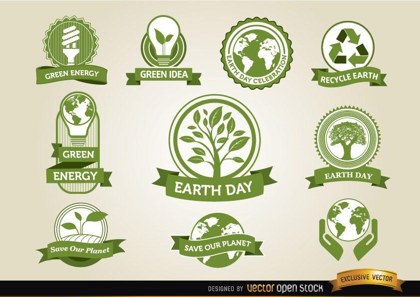 Etiquetas del Día de la Tierra