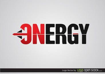 Logotipo de flecha de energía