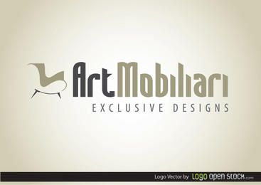 Logotipo de muebles modernos