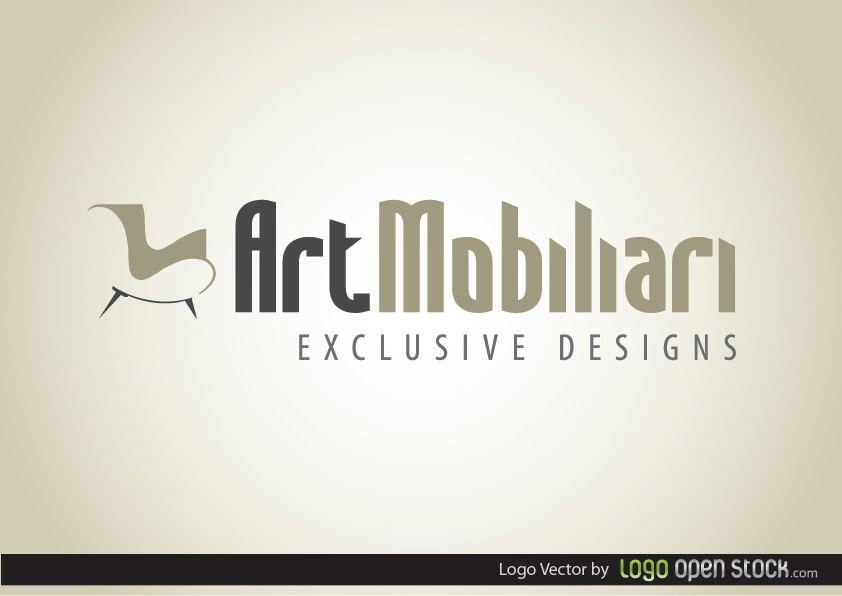 Logotipo de móveis modernos