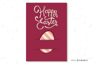Cartão de Páscoa liso vermelho