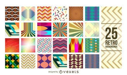 25 geometrische Vintage-Muster