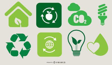 Set de diseño ecológico Go Green