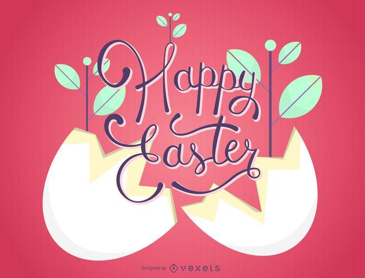 Planta de Pascua dentro de cáscara de huevo