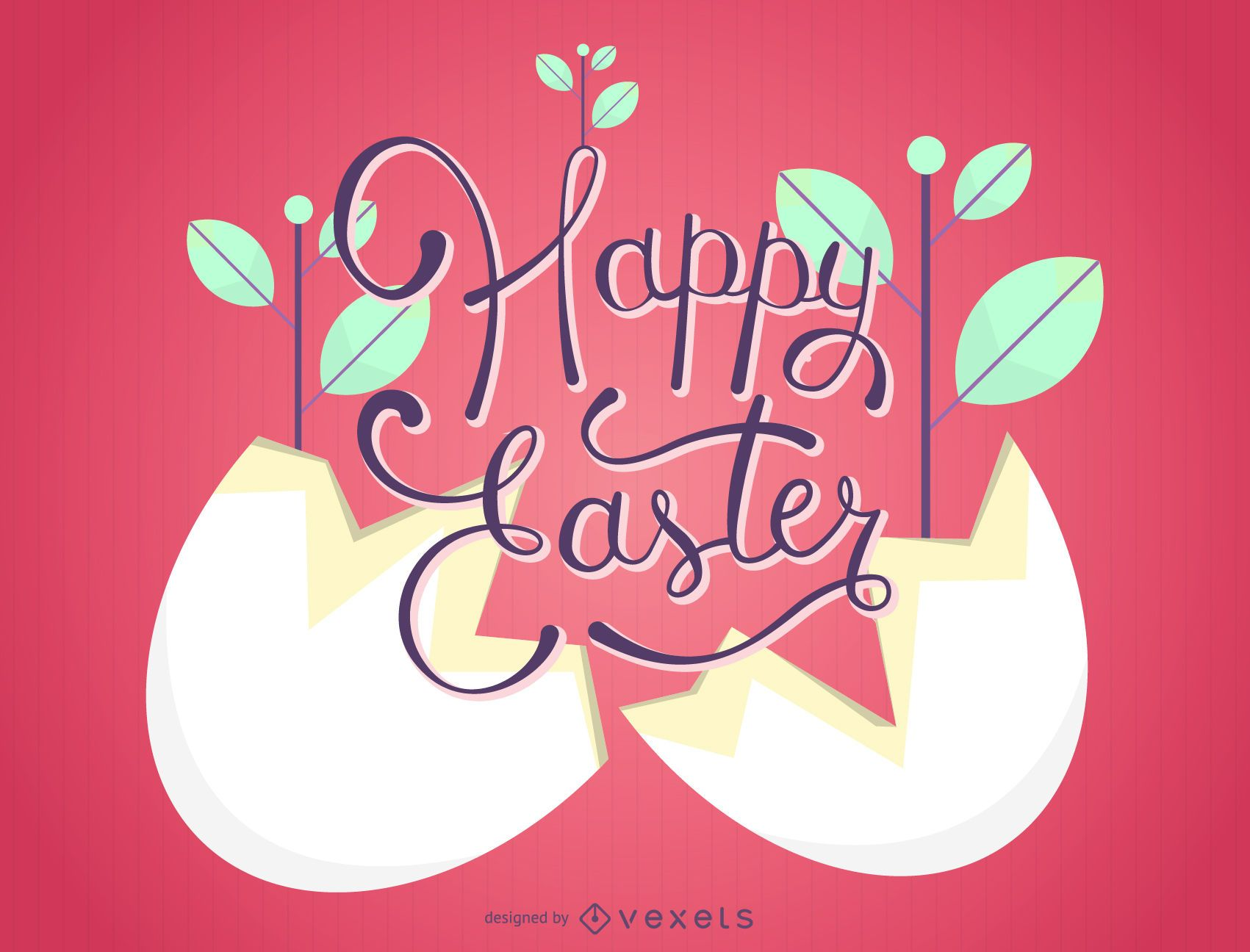 Planta de Pascua dentro de la cáscara de huevo
