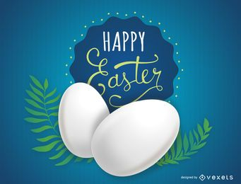 Huevos de Pascua con helechos