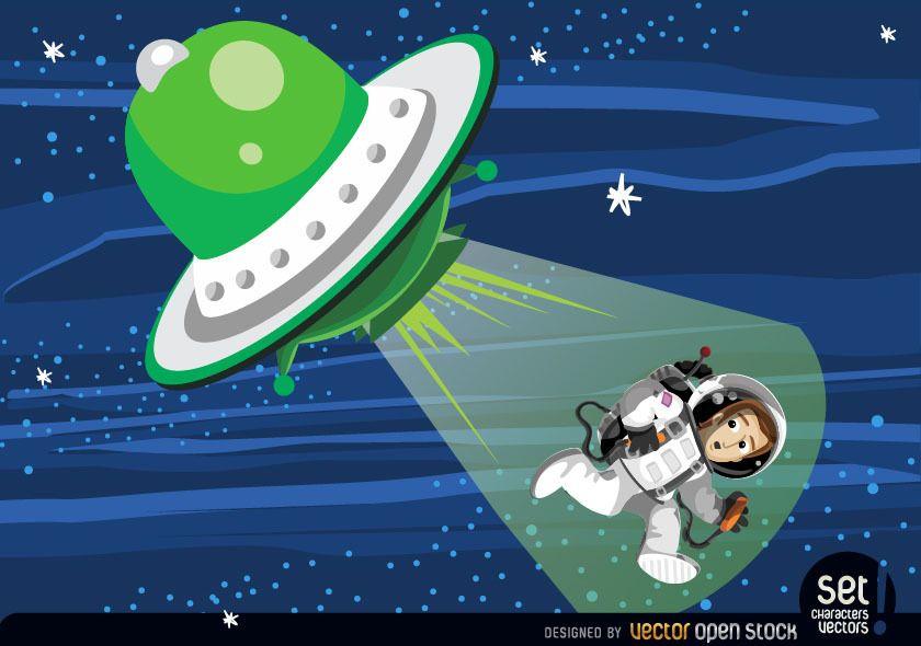 Secuestro de astronauta de platillo volante
