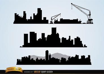 Bau von Stadtlandschaften
