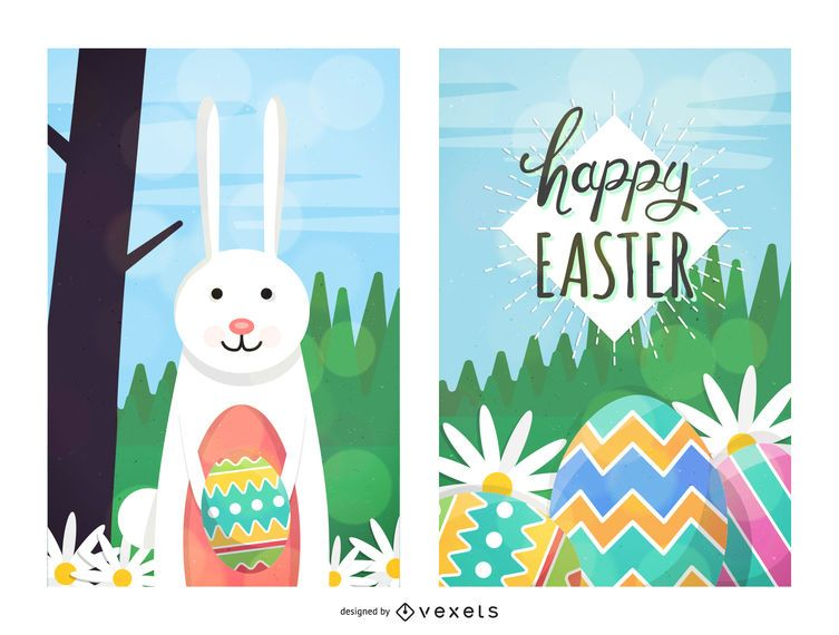 2 Easter Card with Fresh Daisy
