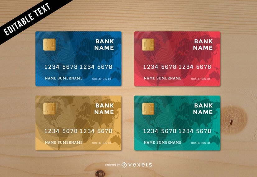 stunning credit card template vector download