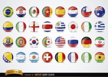 Brasil 2014 banderas Football Worldcup