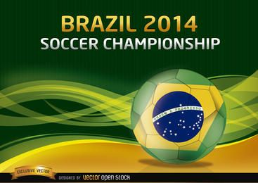 Brasilien 2014 Fußball Meisterschaft Hintergrund