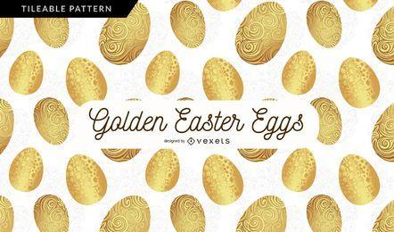 Golden Egg Pattern Background