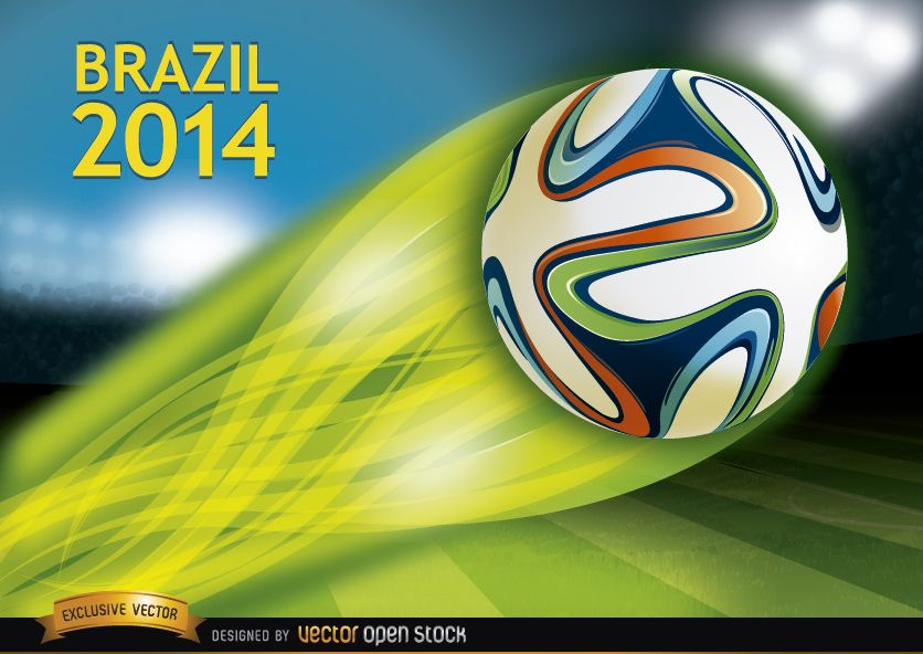 Brazil 2014 ball thrown in stadium