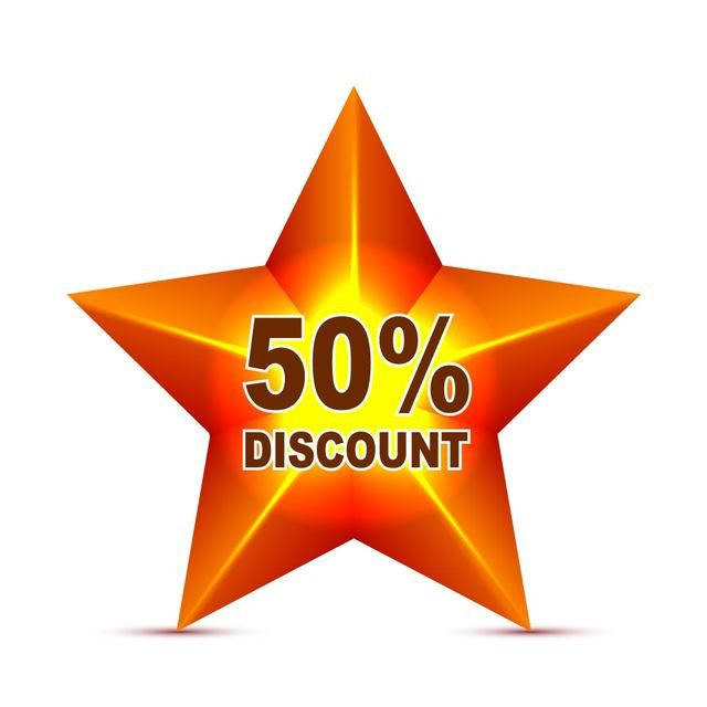 Red Star Discount Tag