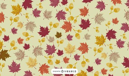 Fondo de hojas caídas de otoño
