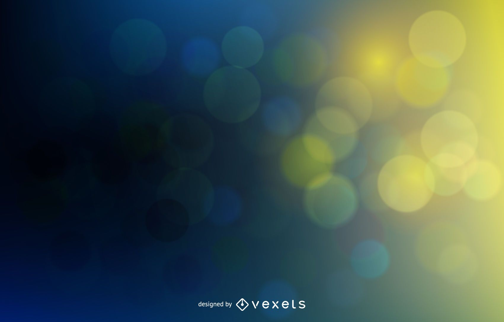 Colorful Background with Blurry Bokeh Bubbles