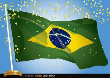 Wellenartig bewegende Feier Brasiliens 2014