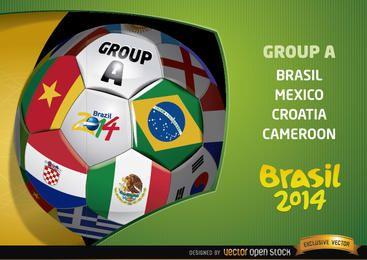 Apresentação do Grupo A no Brasil 2014