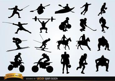 Pacote de silhuetas de esporte