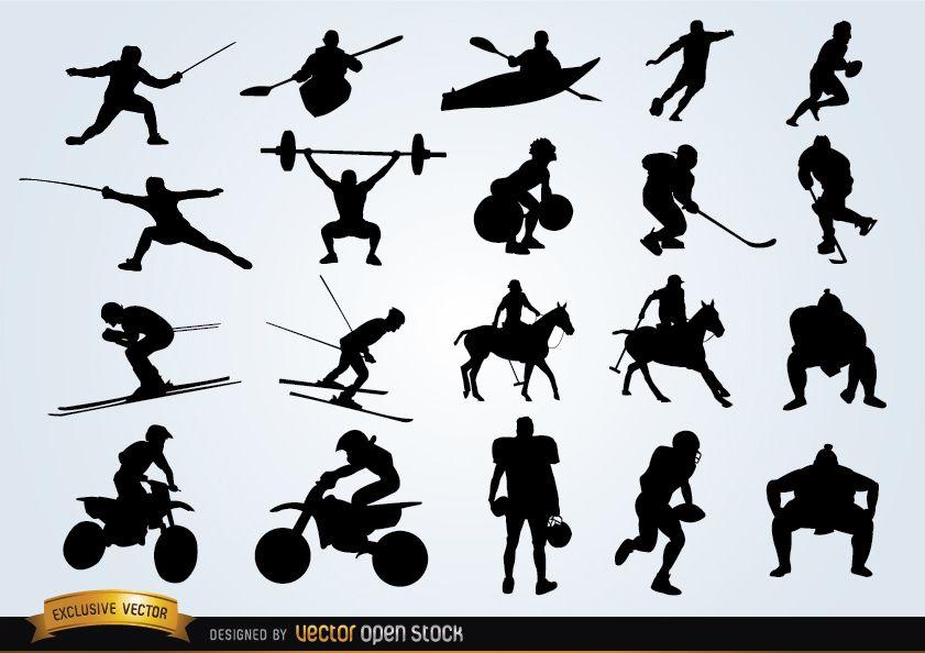 Pack de siluetas deportivas