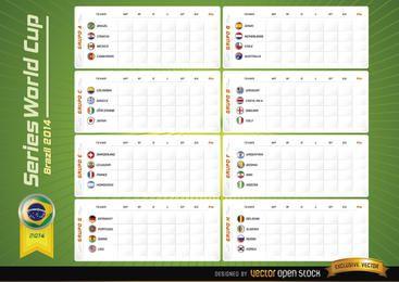 Grupos de equipos juntan el Mundial de Brasil 2014