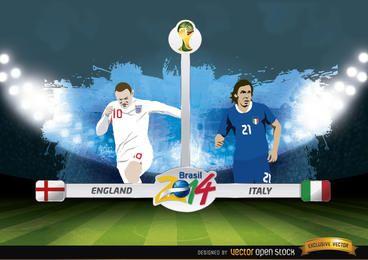 England gegen Italien entspricht Brasilien 2014