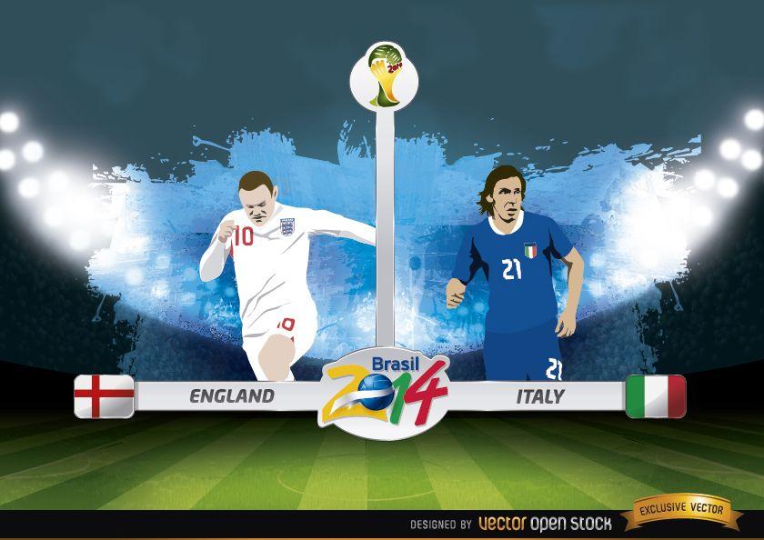 Inglaterra vs.Italia partido Brasil 2014
