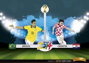 Brasil x Croácia corresponde ao Brasil 2014