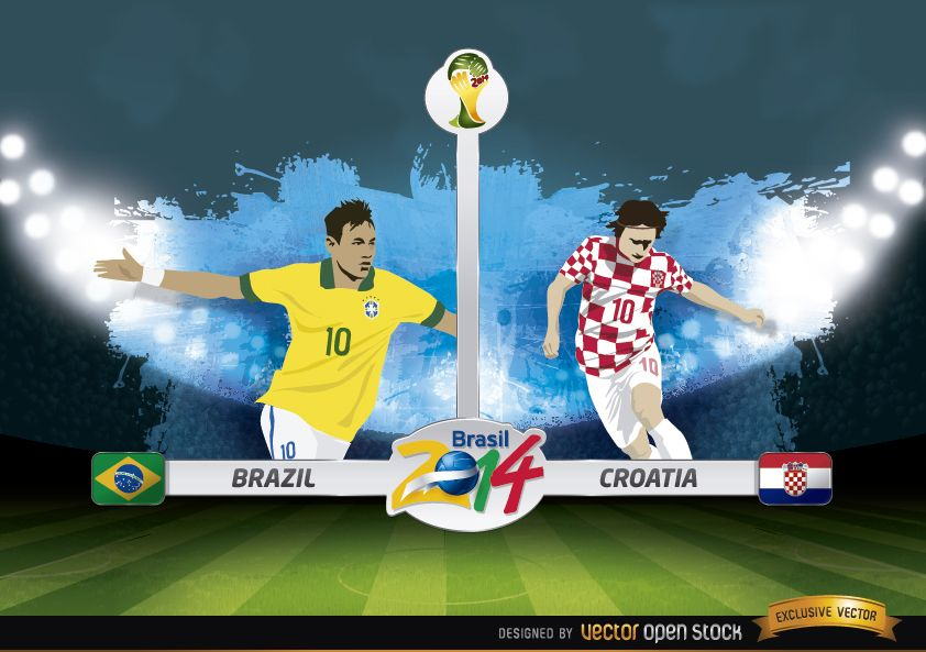 Brazil vs. Croatia match Brazil 2014