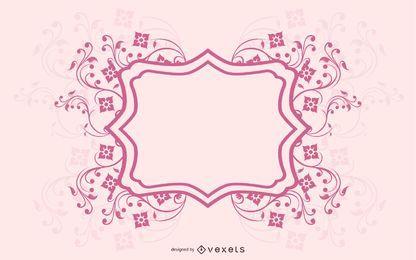 Cartão de convite modelo com linhas suaves de espiral