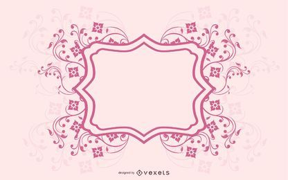 Plantilla de tarjeta de invitación con líneas espirales suaves