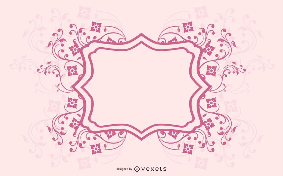 Template Invitation Card with Soft Spiral Lines