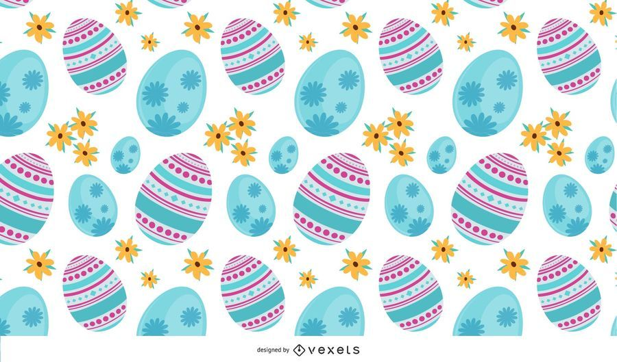 4 fondos de huevos de Pascua sin costura