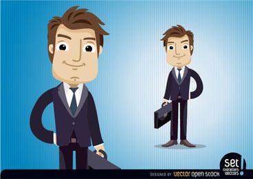 Executive Charakter mit Aktentasche