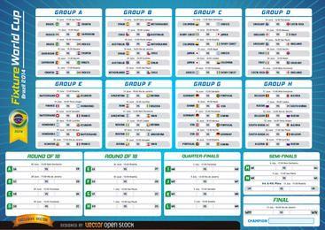 Copa do mundo de fixação Brasil 2014