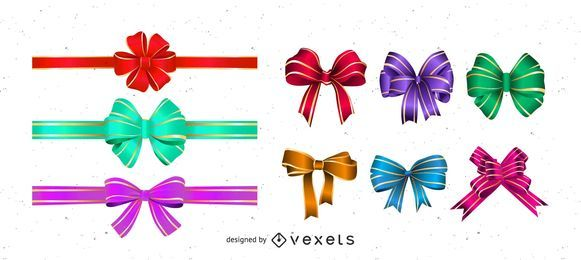 Glossy Ribbon and Bows
