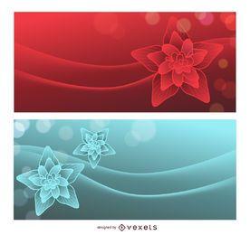 Lotus Dream Roter und Blauer Hintergrund