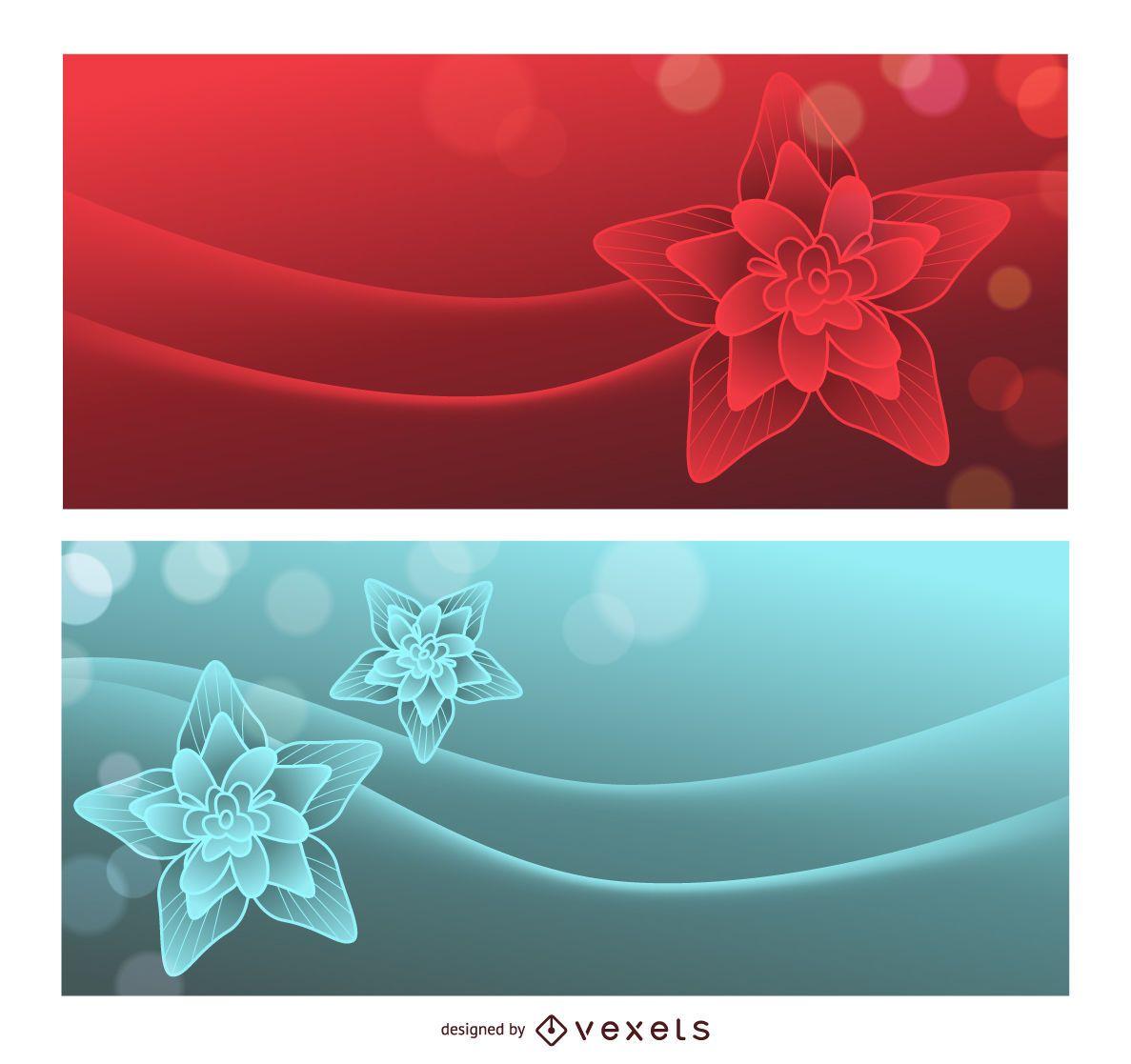 Lotus Dream fondo rojo y azul