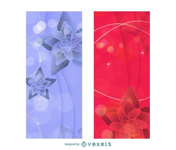 Criativo brilhante 2 modelos de brochura com lótus