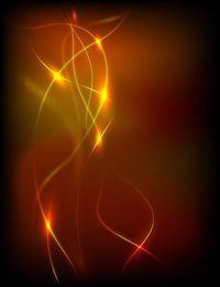 Fundo brilhante mágico com linhas coloridas
