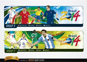Encabezados con grupos Brasil 2014
