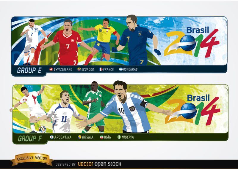 Cabeçalhos com grupos Brasil 2014