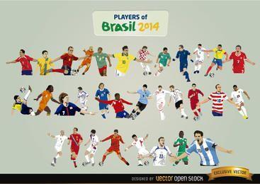 Los jugadores de Brasil 2014