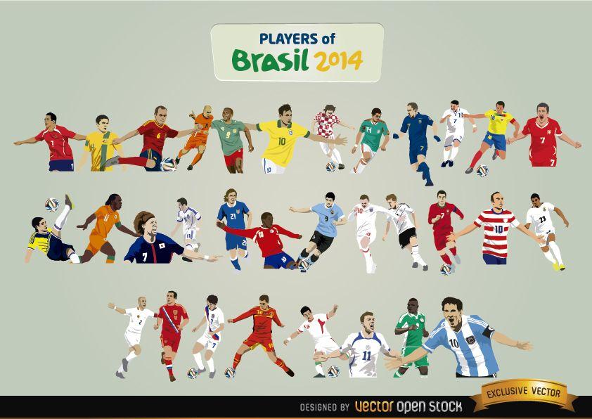 Jogadores do Brasil 2014