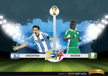 Argentinien gegen Nigeria entspricht Brasilien 2014