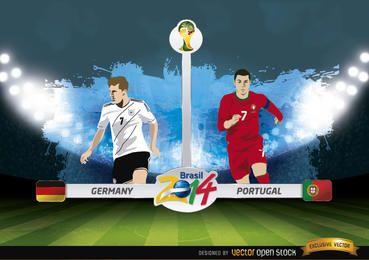 Deutschland gegen Portugal entspricht Brasilien 2014