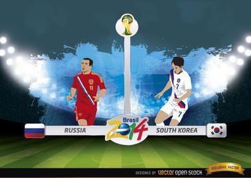 Rússia x Coreia do Sul jogo Brasil 2014