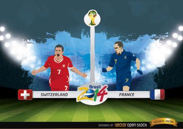 Suiza vs Francia, partido de Brasil 2014