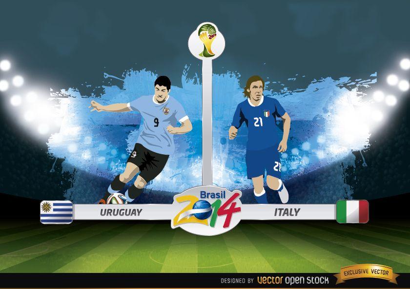 Uruguay vs.Italia partido Brasil 2014